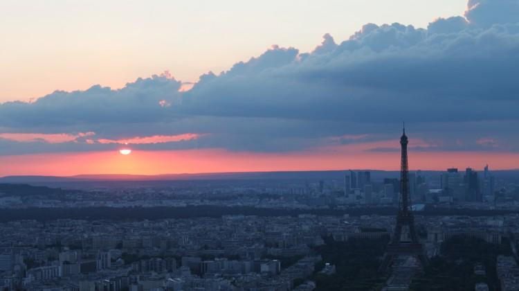 パリの夕日