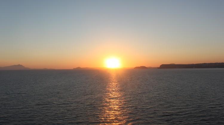 地中海の夕陽