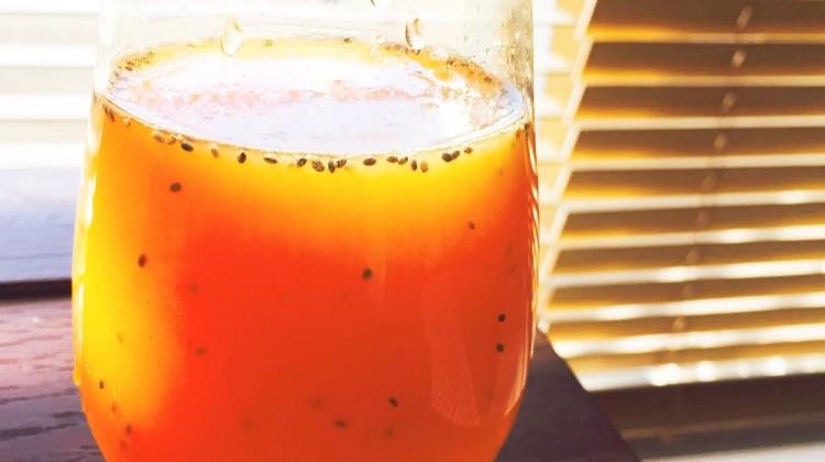 オレンジジュースチアシード